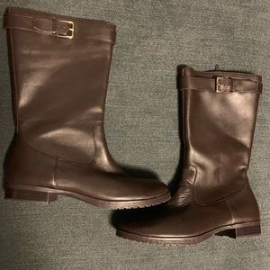 Ralph Lauren Brown Leather Riding Boots Wn's Sz 7